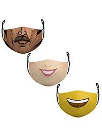 Stoffmasken Sparpack Comic Fun