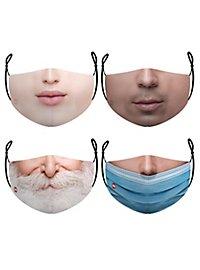 Stoffmasken Sparpack Gesichter