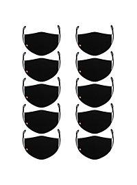 Stoffmasken Sparpack schwarz - 10 Stück