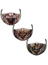 Stoffmasken Sparpack Zombies