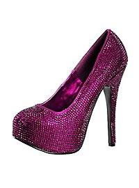 Strass High Heels violett