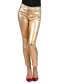 Stretch pants gold-metallic