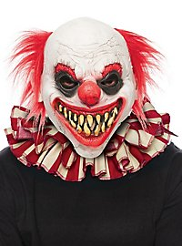 Striped clown collar red-white