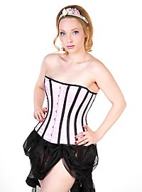 Striped Corset pink & black