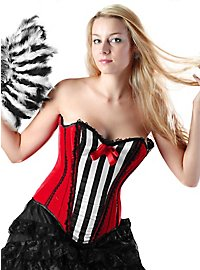 Striped Corset red