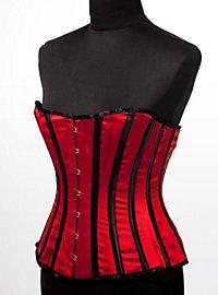 Striped Corset red & black