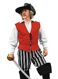 Striped Pirate Pants grey-black