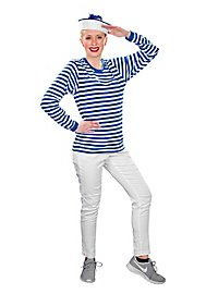 Striped Shirt long-sleeved, blue-white