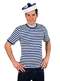 Striped Shirt short-sleeved, blue-white