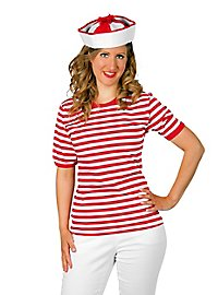 Striped Shirt short-sleeved, red-white