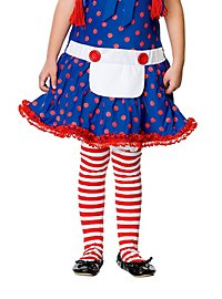 Striped Tights white & red for Kids