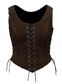 Suede Bodice dark brown