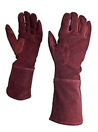 Suede Gauntlets chestnut brown