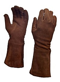 Suede Gauntlets dark brown