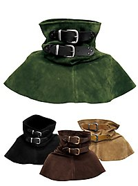 Suede Gorget with Buckles black