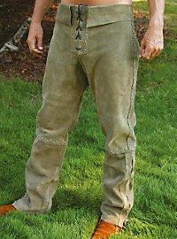 Suede pants green