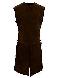 Suede Surcoat dark brown
