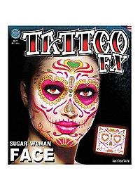 Sugar Woman Face-Adhesive Tattoo