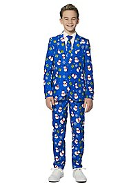 SuitMeister Boys Blue Snowman Suit for Kids