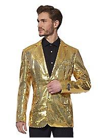 SuitMeister glitter jacket gold