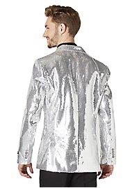 SuitMeister glitter jacket silver