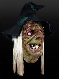 Sumpfhexe Maske aus Latex