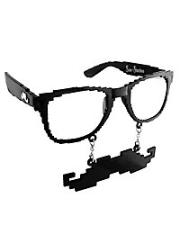 Sun-Staches Black Pixel Party Glasses
