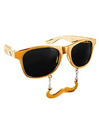 Sun Staches Classic gold Party Glasses