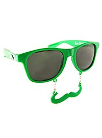 Sun Staches Classic green Party Glasses