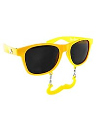 Sun Staches Classic yellow Party Glasses