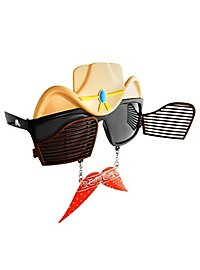 Sun Staches Cowboy Party Glasses