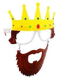 Sun Staches King Party Glasses