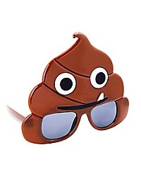 Sun-Staches Pile Of Poop Emoji Party Glasses