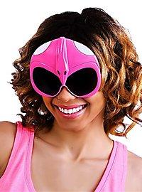Sun Staches Pinkfarbener Power Ranger Partybrille