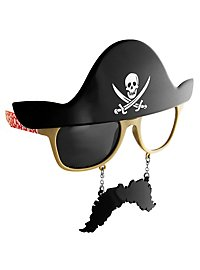 Sun Staches Pirate Party Glasses