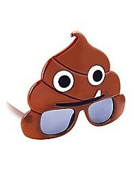 Sun-Staches Poop Emoticon Partybrille