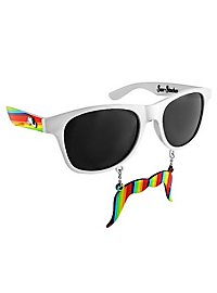 Sun Staches Rainbow Party Glasses
