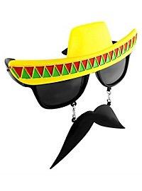 Sun Staches Sombrero Partybrille
