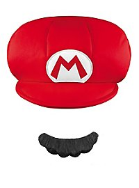 Super Mario cap & beard set for children