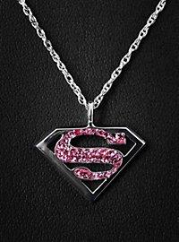 Supergirl Anhänger Strass rosa