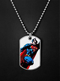 Superman fliegend Dog Tag