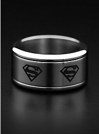 Superman Logo Ring rotierend silber