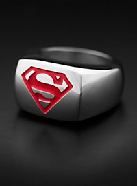 Superman Signet Ring red