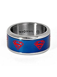 Superman Spinning Ring blue