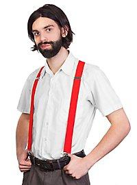Suspenders red