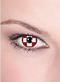 Switzerland Flag Contact Lenses