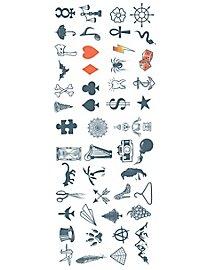 Symbols Knöchel Klebe-Tattoos