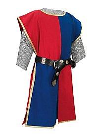 Tabard de chevalier bleu et rouge