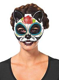 Tag der Toten Katzenmaske