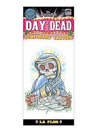 Tag der Toten Klebe-Tattoo